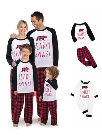 Oso Carta Familia a juego Pijamas De Navidad