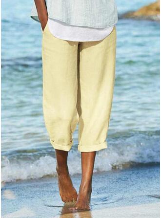 Kieszenie Marszczona Duży rozmiar Nieformalny sportieve Spodnie