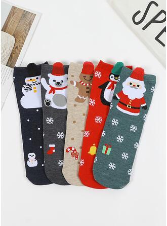 Impresión Navidad/Calcetines Calcetines (Juego de 5)