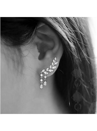 Luminoso Sexy Aleación Diamantes de imitación con Rhinestone De mujer Señoras' Pendientes de la manera