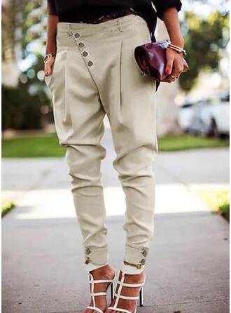 Solid Shirred Extra stor storlek Elegant Sexig Byxor