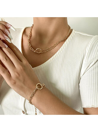 魅力的な かなり 繊細 ロマンチック 合金 婦人向け レディース ' Girl's ネックレス 2個
