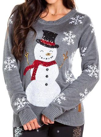 Femmes Polyester Inmprimé Chandail de Noël moche
