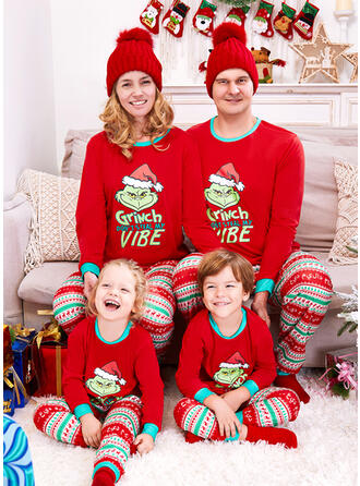 Reno Carta Dibujos animados Impresión Familia a juego Pijamas De Navidad