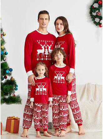Reno Carta Familia a juego Pijamas De Navidad