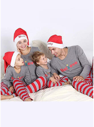 Santa claus Color-Block Carta Raya Familia a juego Pijamas De Navidad