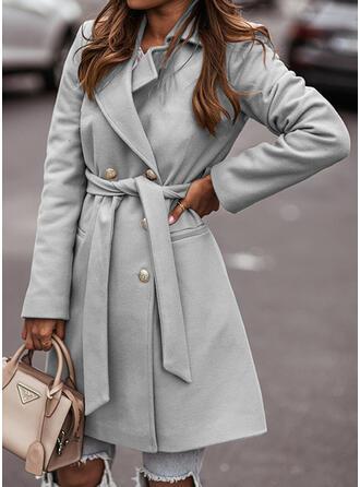 長袖 固体 スリムフィットコート