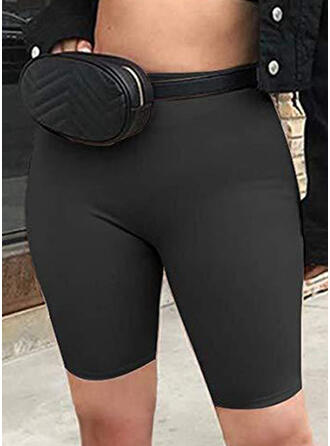 Solid Sexy Yoga Stretchy Shorts Leggings
