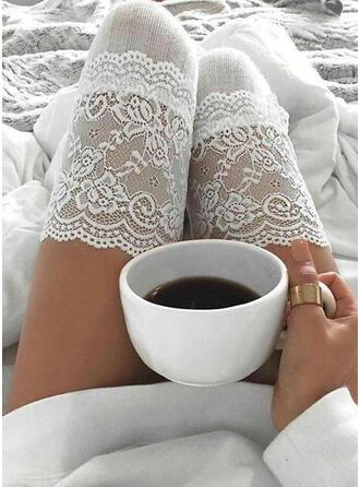 Couleur unie Chaud/Confortable/aux femmes/Chaussettes hautes Chaussettes/Bas