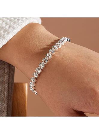 Lysande Legering Strass med Strass Kvinnor Damer' Armband