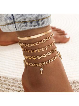 Link & Chain Layered Aliaj sori (Set of 5)