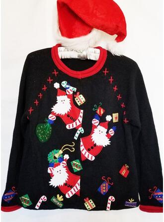 婦人向け 印刷 サンタ ダサいクリスマスセーター