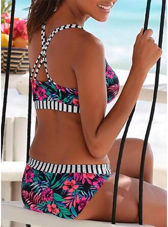Floral Correa Sexy Hermoso Bikinis Trajes de baño