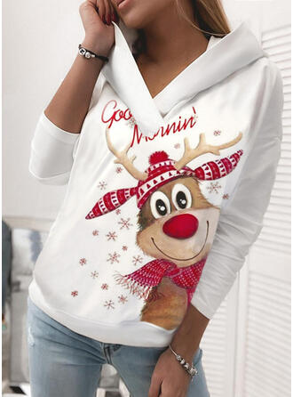 Animal Manga comprida Camisola de Natal