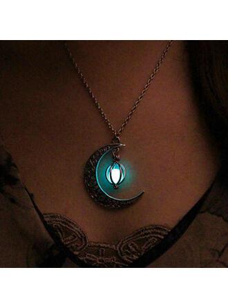 Cea mai tare Luminos Aliaj cu Lună coliere