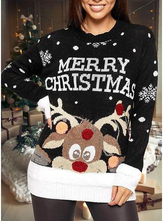婦人向け 印刷 トナカイ 文字 ダサいクリスマスセーター