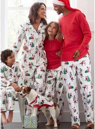 Jultomten Ren Print Matchande familj Jul Pyjamas