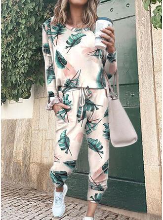 Print Casual tee & 2-delt tøj sæt