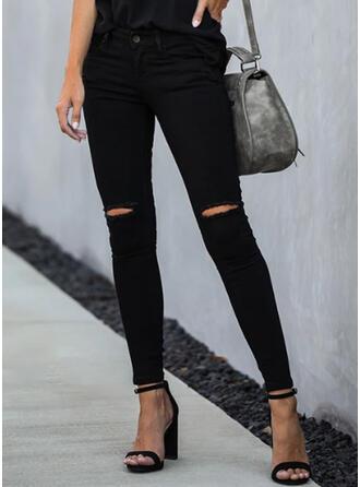 Solid Rev Elegant Mager Denim & Jeans