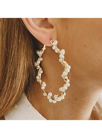 Modern Legering Pärlor Kvinnor örhängen 2 st