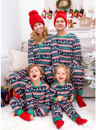 Reno Impresión Corazón Familia a juego Pijamas De Navidad