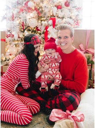 Bear Pläd Rand Matchande familj Jul Pyjamas