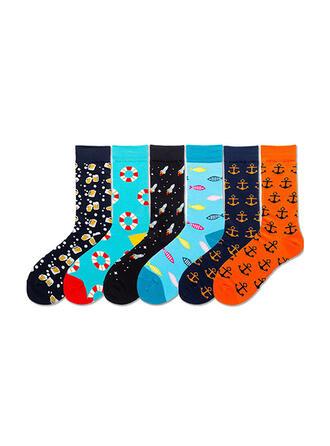 Tisk Komfortní/Posádkové ponožky/Unisex Ponožky
