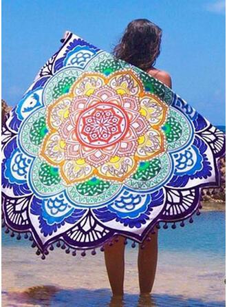 Tassel/géométrique Imprimer rond/attrayant/Boho serviette de plage
