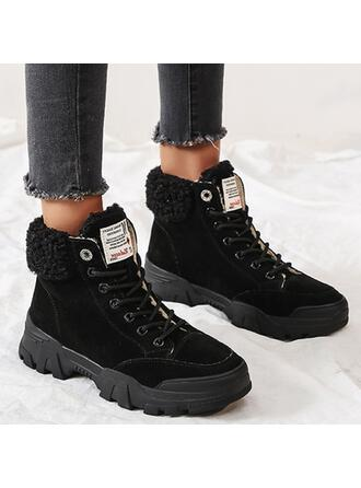 De mujer Ante Plataforma Botas al tobillo Top bajo con Cordones Piel Sintética zapatos