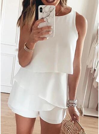 Sólido Sin mangas Casual/Elegante Vestidos