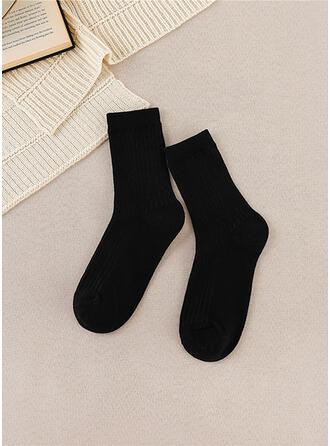 Color sólido Cálido/Cómodo/De las mujeres/Calcetines cuartos Calcetines