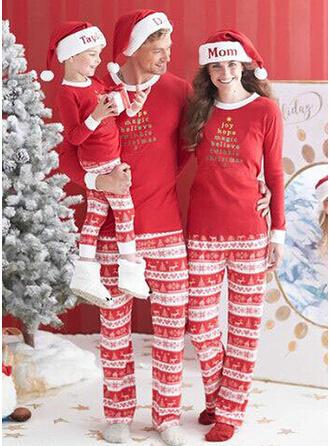Letter Tenue Familiale Assortie Pyjama De Noël