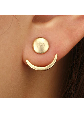 Simple Alloy Earrings (Set of 2)