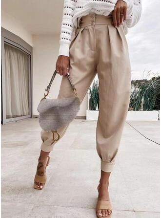 Kieszenie Marszczona Elegancki Spodnie