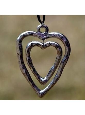 Estilo clásico Corazón día de San Valentín Aleación Cuerda trenzada De mujer Collares