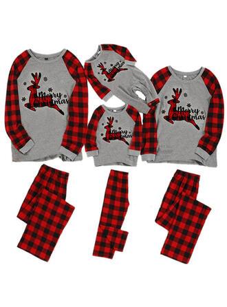 Venado Tela Escocesa Familia a juego Pijamas De Navidad