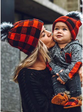 Καρό ύφασμα Ζεστός/Ανετος/Χριστούγεννα/Οικογένεια Εμφάνιση