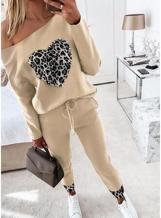 Extra stor storlek Leopard Dragsko Fritids Sportig Kostymer