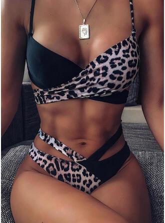 Cintura Baja Correa Sexy Bikinis Trajes de baño