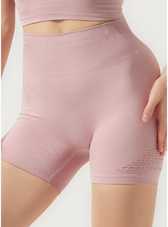 Nailon Chinlon Cor sólida Calças de ioga / fitness Absorção de umidade