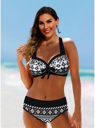 Taille Haute Dos Nu Vintage Grande taille Bikinis Maillots De Bain