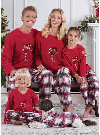 グリッド マッチングファミリー クリスマスパジャマ