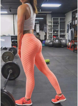 Color sólido Leggings deportivos