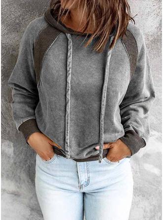 Solid Hooded Long Sleeves Hoodie