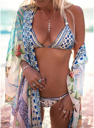 Taille Basse Imprimé Dos Nu Sexy Bohème Bikinis Maillots De Bain