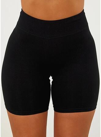 Sólido Por encima de la rodilla Casual Deportivo Vacaciones Tallas Grande Pantalones cortos Polainas