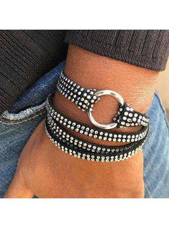 Chic Layered Rhinestones PU Women's Bracelets