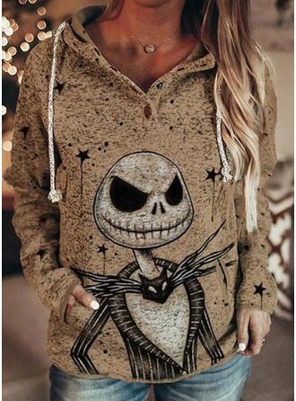 Halloween tasche Maniche lunghe con cappuccio