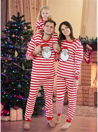 サンタ 縞模様の マッチングファミリー クリスマスパジャマ