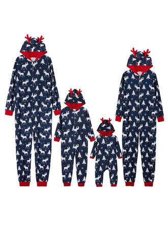 Renne Inmprimé Tenue Familiale Assortie Pyjama De Noël